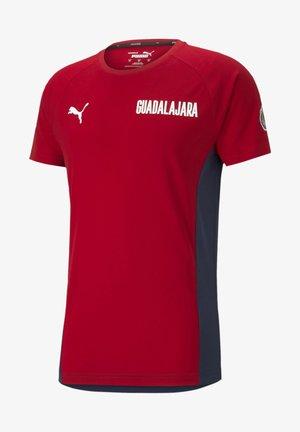 T-Shirt print - peacoat-tango red