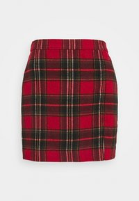 Hollister Co. - CHAIN PLAID MINI STATEMEN - Miniskjørt - red - 5