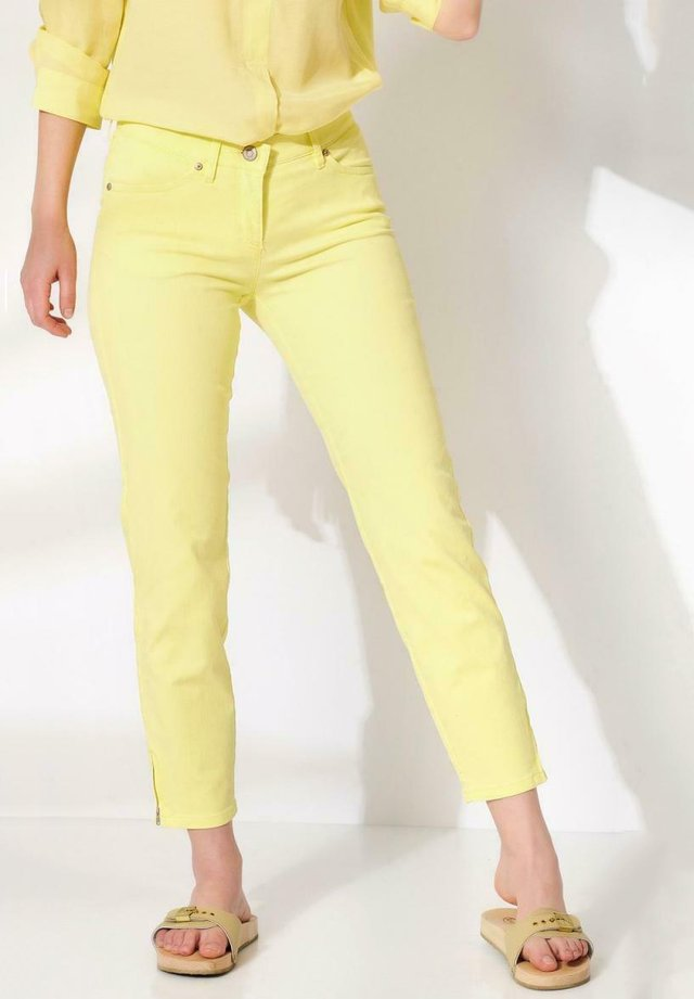 Trousers - soft yellow
