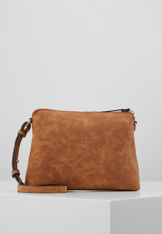TAN ZIP TOP CROSS BODY - Sac bandoulière - tan