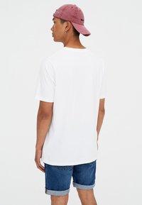 PULL&BEAR - T-shirt basic - white - 2