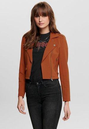 ONLPOPTRASH  - Faux leather jacket - ginger bread