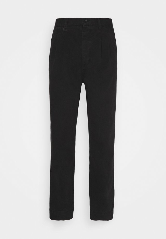 STUDIO PLEAT PANT - Kangashousut - black