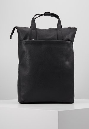 UNISEX LEATHER - Rucksack - black
