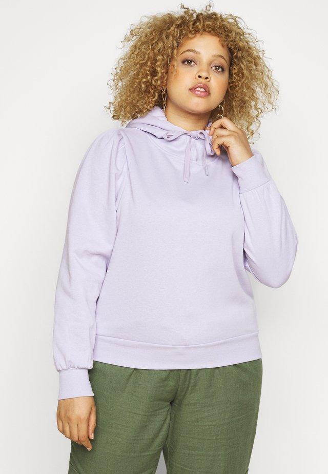 PCRIBBA HOODIE - Bluza z kapturem - purple heather