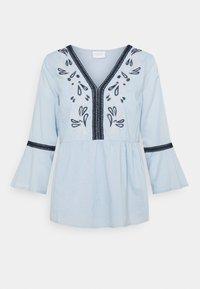 Vila - VIANAYAS 3/4 - Blouse - cashmere blue/navy blazer - 0