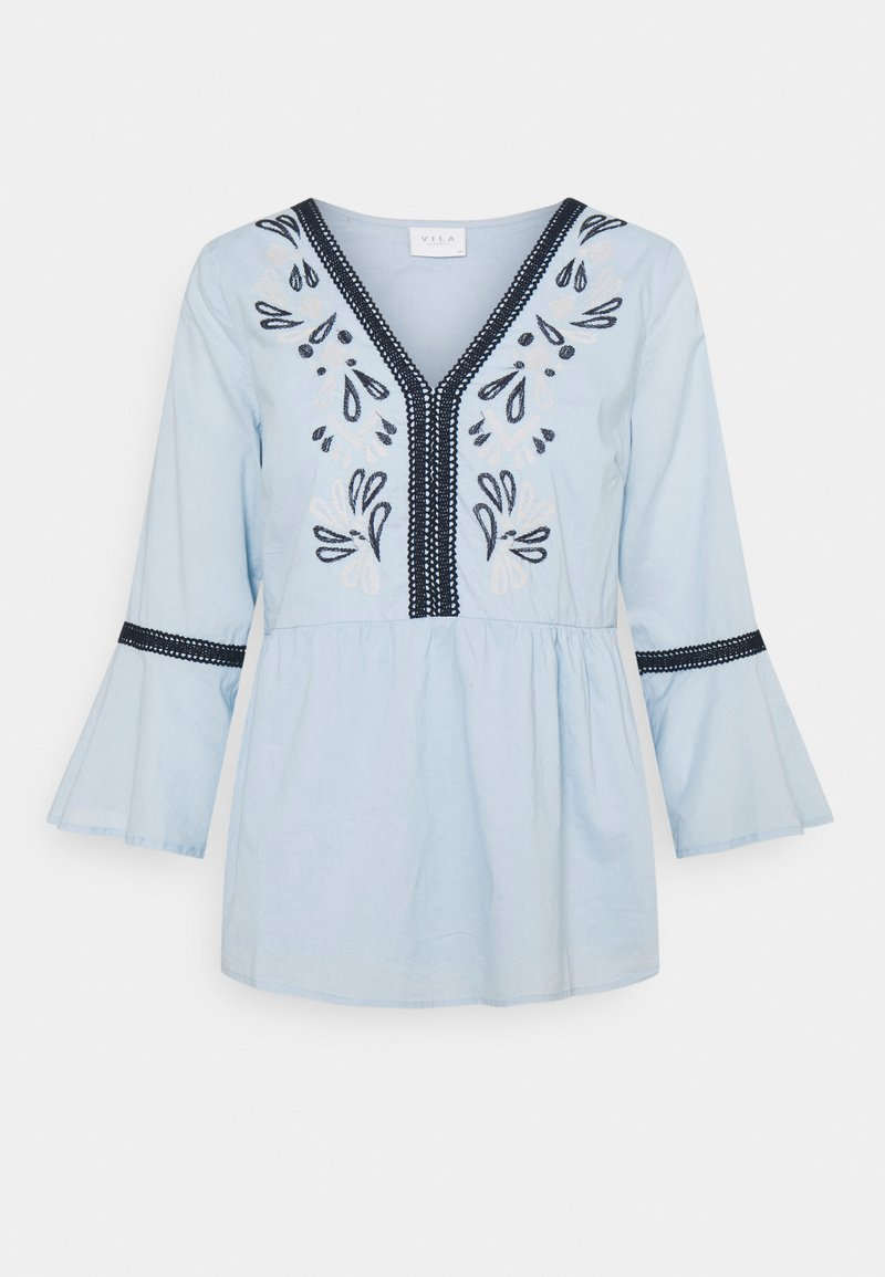 Vila - VIANAYAS 3/4 - Blouse - cashmere blue/navy blazer