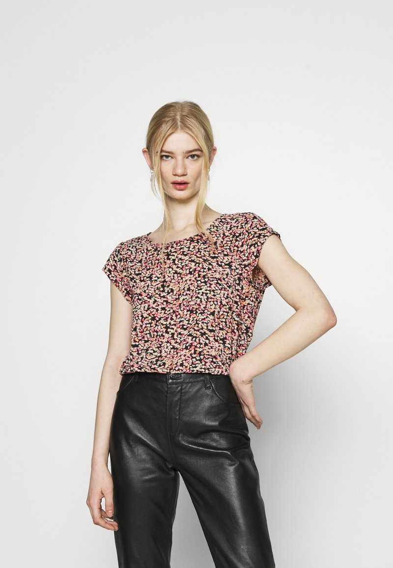 ONLY - ONLVIC - Blouse - black/scarlet neon