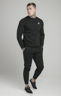 SIKSILK - MUSCLE - Tracksuit bottoms - black - 1