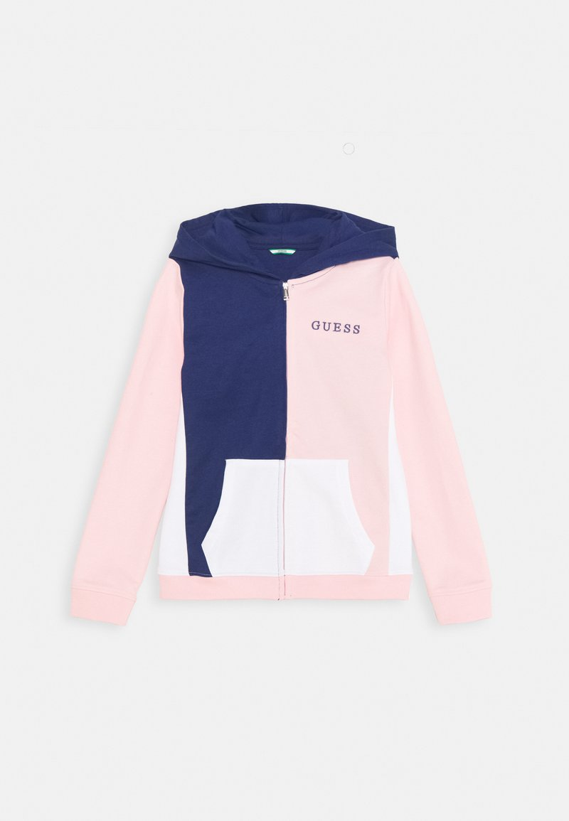 Guess - JUNIOR HOODED ACTIVE ZIP - Zip-up hoodie - midnnight/pink