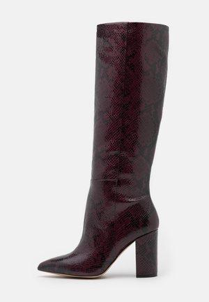 KINKUNA - Boots med høye hæler - bordo
