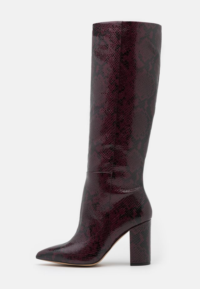 KINKUNA - High heeled boots - bordo