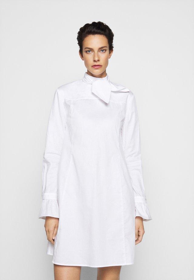 TIE NECK DRESS - Denní šaty - white