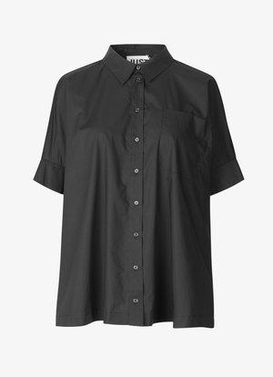 NORIA - Button-down blouse - black