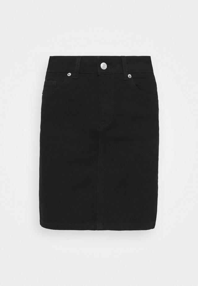 SLFKENNA SKIRT - Mini skirt - black denim