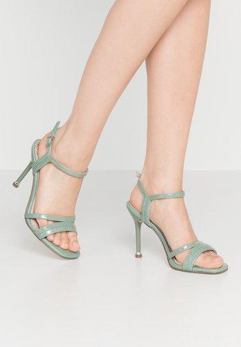 High heeled sandals - sage