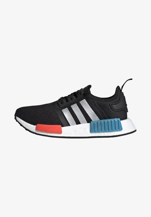 NMD_R1 SHOES - Tenisky - core black/silver metallic/solar red