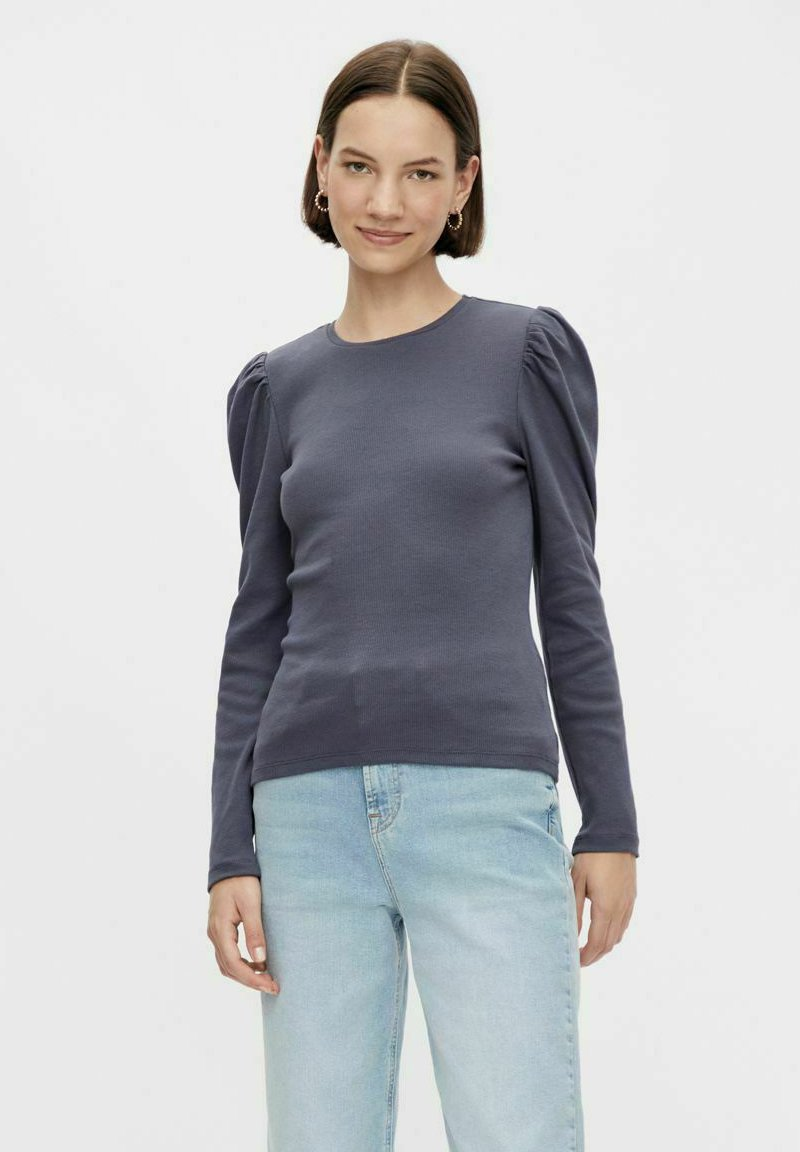 Pieces - PCANNA - Long sleeved top - ombre blue