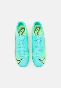Nike Performance - MERCURIAL VAPOR 14 ACADEMY FG/MG - Tekonurmikengät - dynamic turquoise/lime glow - 3
