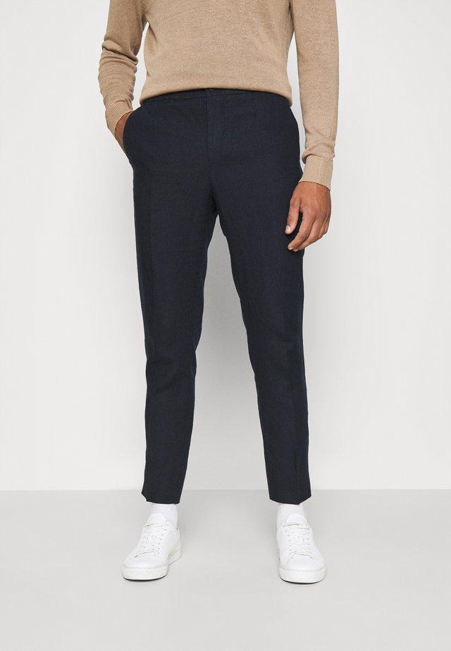 SASHA DRAPE PANTS - Pantaloni - navy