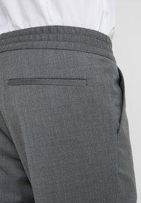 Filippa K - TERRY CROPPED PANTS - Trousers - grey melange - 5