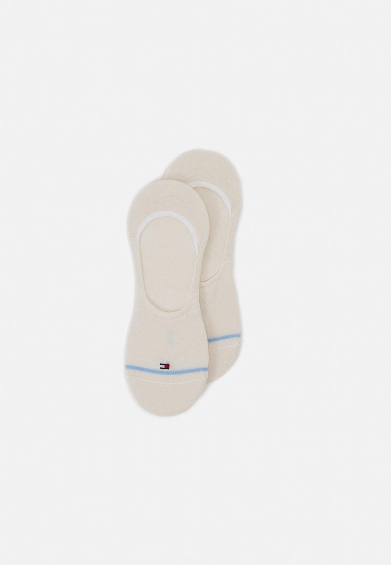 Tommy Hilfiger - WOMEN FOOTIE BIAS OPEN STRIPES 2 PACK - Trainer socks - white