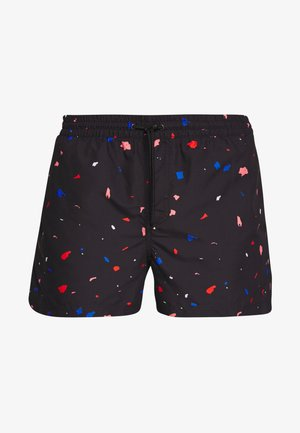 FRAGMENT - Swimming shorts - black/pink