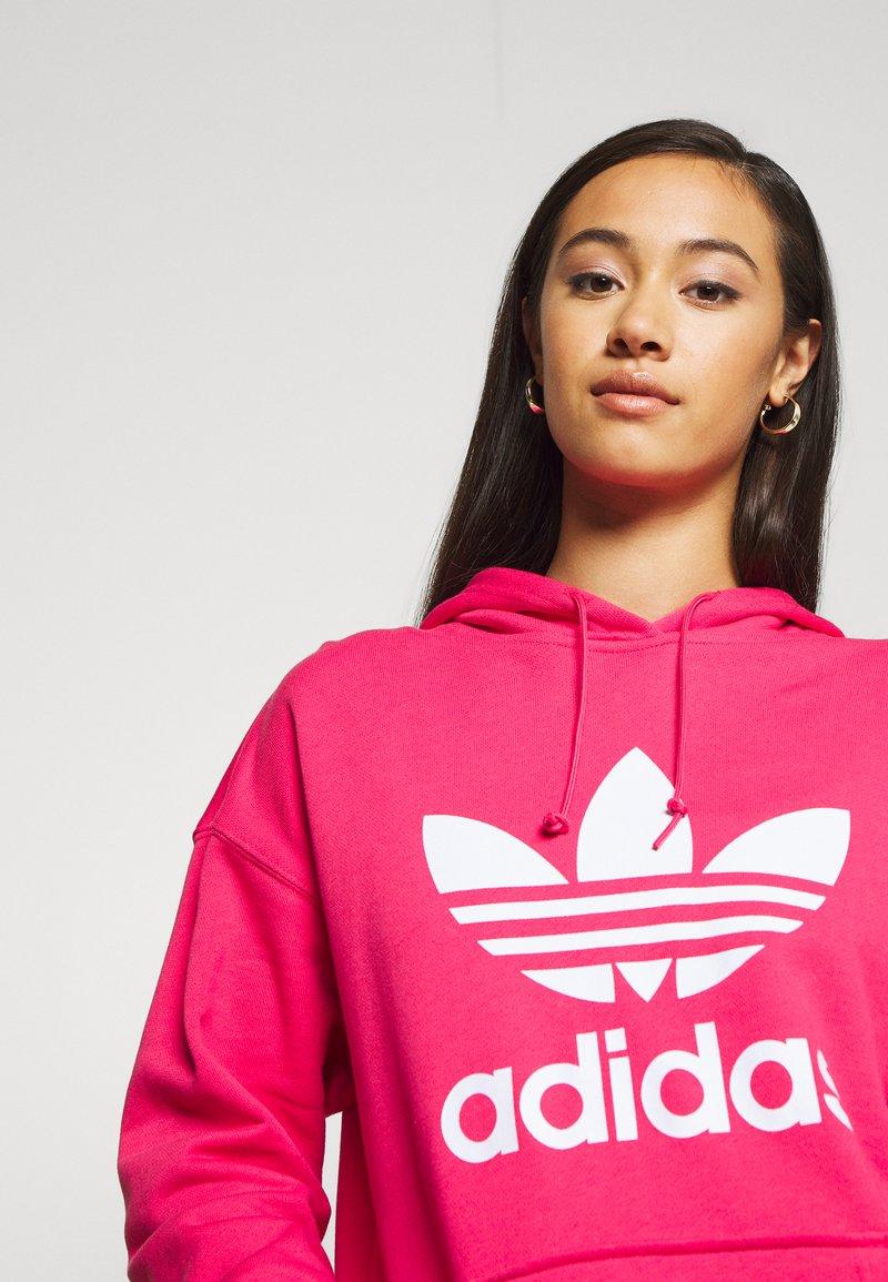 Polvoriento Foto sentido  adidas Originals ADICOLOR TREFOIL ORIGINALS HODDIE - Hoodie - power  pink/white/pink - Zalando.co.uk
