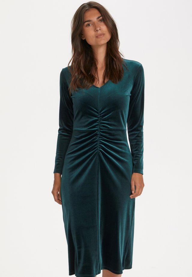 FLORA - Jersey dress - ponderosa pine