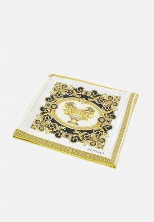 BAROCCO MOSAIC FOULARD UNISEX - Foulard - bianco/oro/kaki