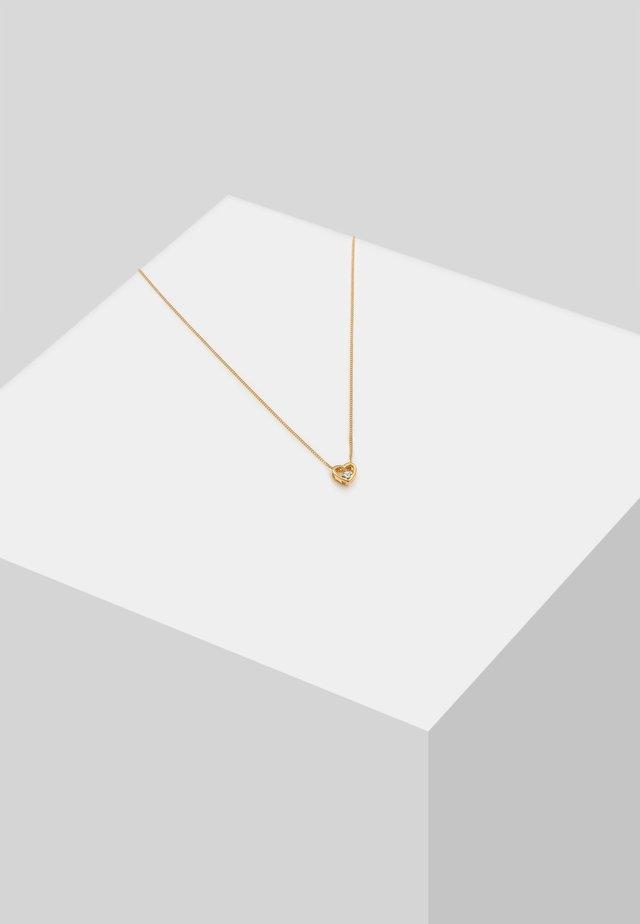 HERZ LIEBE - Necklace - gold-coloured