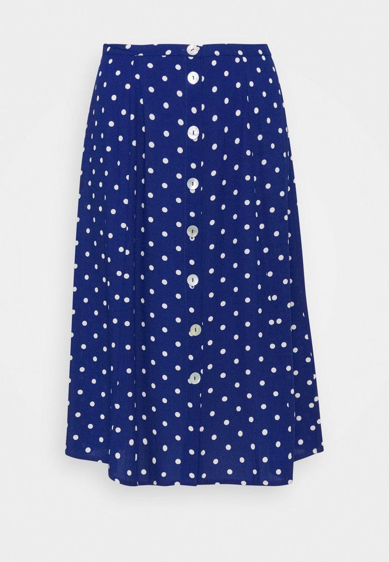 King Louie - JUNO BUTTON SKIRT PABLO - A-line skirt - midnight