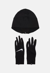 Nike Performance - WOMENS ESSENTIAL RUNNING HAT AND GLOVE SET - Gorro - black/silver