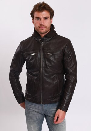 BERNEZ - Leather jacket - brown