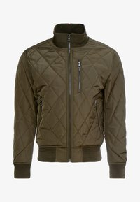 Tommy Hilfiger - DIAMOND QUILTED BOMBER - Light jacket - green - 4