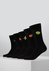 Pier One - 5 PACK - Socks - black - 0
