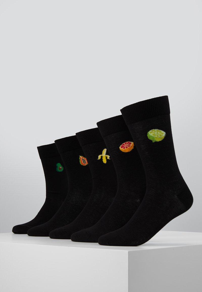 Pier One - 5 PACK - Socks - black