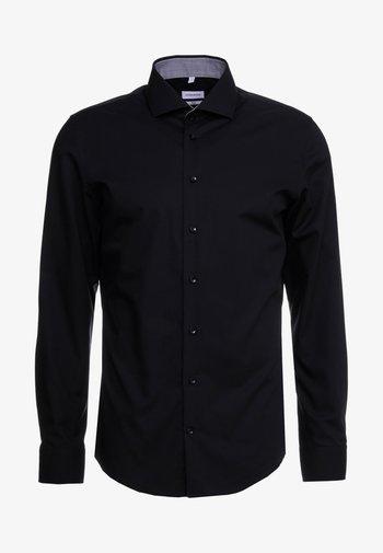 SLIM FIT - Finskjorte - black