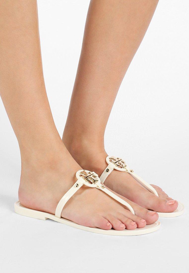 Tory Burch - MINI MILLER FLAT THONG - Pool shoes - ivory