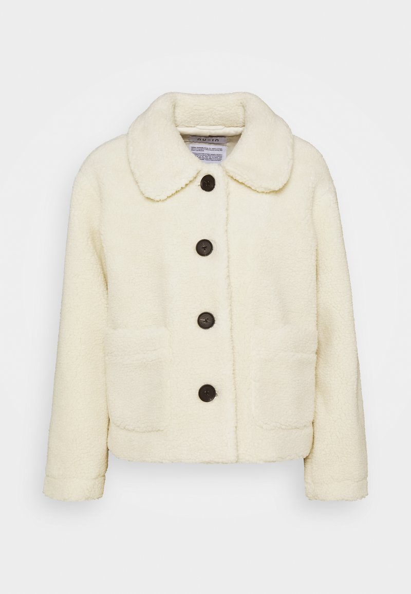 NU-IN - BUTTON SHORT JACKET - Winter jacket - off white