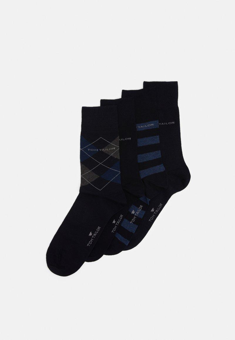 TOM TAILOR - SOCKS GRAPHICS 4 PACK - Ponožky - dark navy
