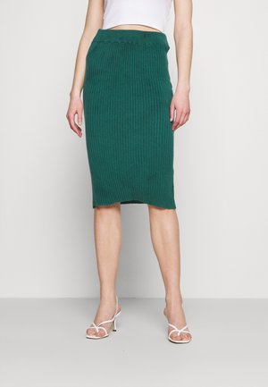 TIMMY LOUNGE MIDI SKIRT - Pencil skirt - emerald green