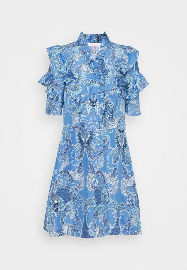 Korte jurk - multicolor blue