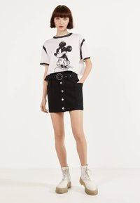 Bershka - A-line skirt - black - 1