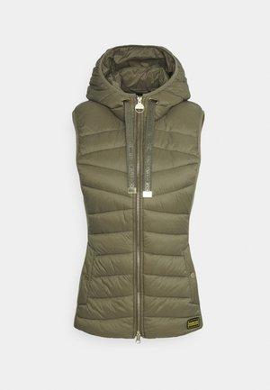 GRID GILET - Waistcoat - army green