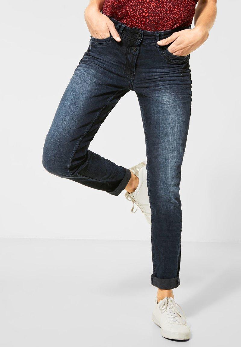 Cecil - MIT DEKO - Jeans Skinny Fit - blau