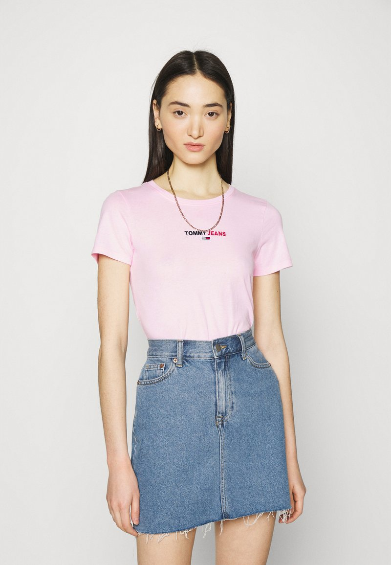 Tommy Jeans - FLAG TEE - T-shirt print - romantic pink