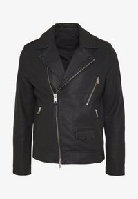 BLOC BIKER - Leather jacket - black