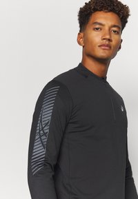ASICS - ICON WINTER ZIP - Long sleeved top - performance black/carrier grey - 4