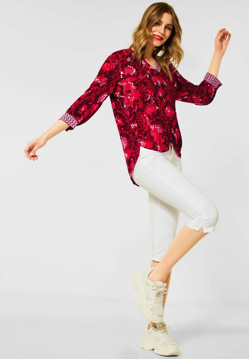 Street One - MUSTERMIX - Blouse - rot
